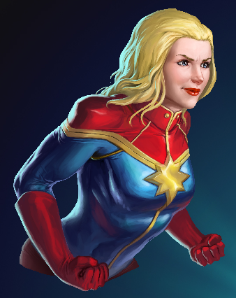 captain marvel puzzle quest